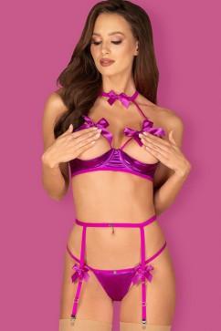 Эротический комплект Obsessive Delishya garter set