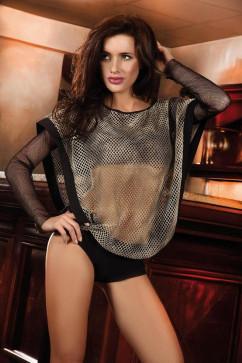 Легкая сетчатая блуза PI-035