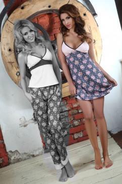 Женская ночная сорочка с цветочным принтом Pigeon P-404