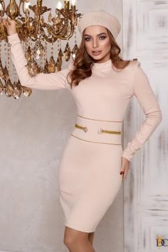 Платье-мини из джерси в стиле милитари Domenica Р 2404