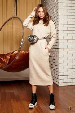 Платье с капюшоном в спортивном стиле Domenica Р 2373