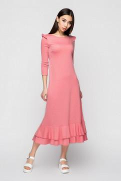 Платье с крылышками и рюшей A-Dress 70970