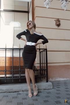 Платье с открытым плечом Domenica Р 2595