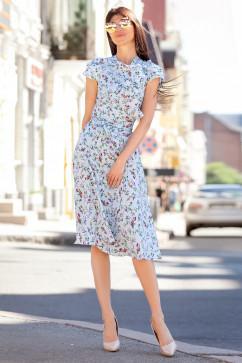 Платье силуэта солнце Jadone Fashion Силин