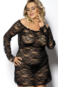 Платье-сорочка большого размера Anais Orangina