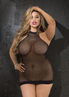Платье в сетку большого размера Shirley of Hollywood X90382