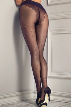 Прозрачные фантазийные колготки Marilyn Gucci G05 20 den