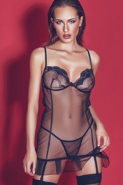 Прозрачный комплект-сорочка Anais Palmina