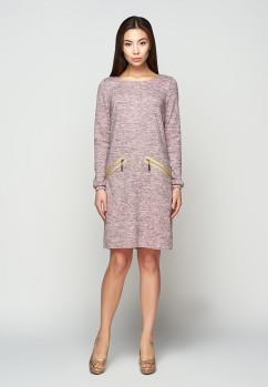 Прямое платье из меланжа A-Dress 707111
