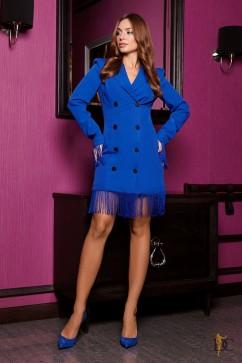 Роскошное платье из шикарного костюмного материала Domenica Р 2266