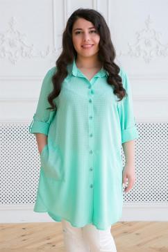 Рубашка в мелкую клетку Tatiana ЛИКА