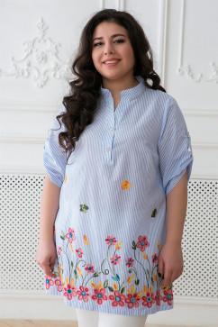 Рубашка в народном стиле с яркой вышивкой Tatiana ФЛОРА