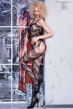 Секси комбинезон с плетением ChiliRose CR-4234