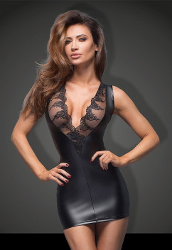 Секси платье с кружевным декольте Noir Handmade F168