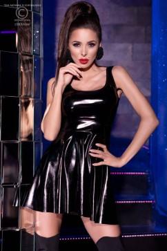Сексуальное чёрное мини платье ChiliRose CR-4275