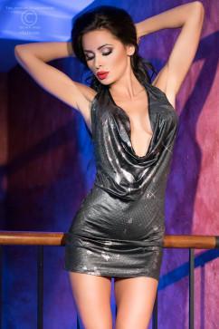 Сексуальное мини-платье с глубоким декольте ChiliRose CR-4180