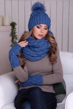 Шапка и шарф Headdress Моника комплект