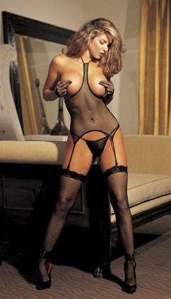 Эротический комплект с открытой грудью Shirley of Hollywood 90017