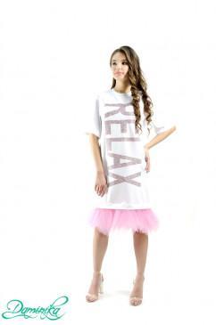 "Свободное платье-футболка ""Relax"" Daminika 11801"