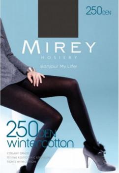 Теплые зимние колготки Mirey Wintercotton 250 den