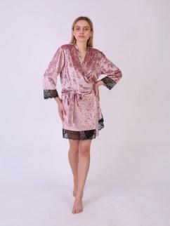 Теплый велюровый халат Serenade 5081