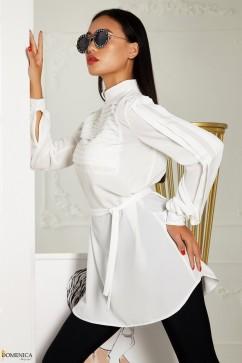Удлиненная блуза из софта Domenica Р 2516