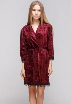 Велюровый халат для дома Serenade 5011