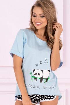Женская пижама с шортиками LivCo Corsetti Mrs. Panda