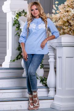 Женская рубашка с кружевом Seventeen 2658