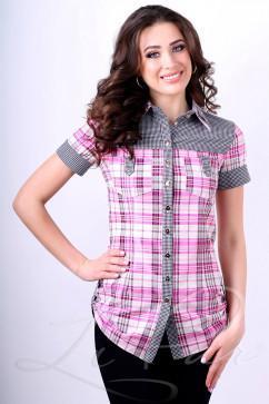 Женская рубашка в клетку LiPar 81к/р