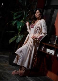 Женский халат с длинным рукавом Effetto 0388