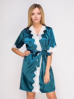 Женский халат с кружевом Serenade 2128